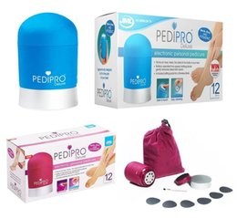 2015 PediPro Делюкс Педикюр Hard Skin Remover Kit Набор Soft Red Blue Экспресс Педи Electric Foot File PediPro Педи Electric Скраб для ног