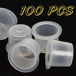 Wholesale 100 Large Size mm Plastic Tattoo Ink Cap Cups Supply