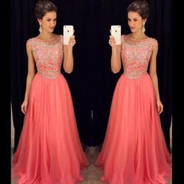 Coral Bridesmaid Dresses Rhinestones Online | Coral Bridesmaid ...