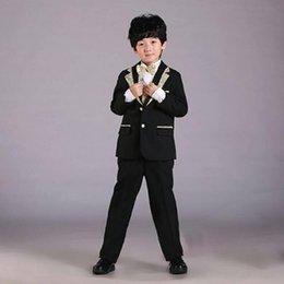 Wholesale First Communion new boy children suit Boy s Formal Wear Suits for wedding part Boys Attire sets Bow Tie Pants Shirt Jacket CC19