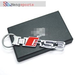 цепь пребывание ПК верхнего металла RS RS1 RS3 RS4 RS5 RS6 R8 автомобилей Carbon Fiber Metal брелоков Key Chain с коробкой