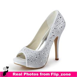 Discount Bridal Shoes Open Toe | 2017 Flat Open Toe Bridal Shoes ...