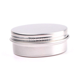 Wholesale 15ml ml ml Empty Nail Art Cream Pot Lip Balm Cosmetic Tin Containers Bottles Screw Thread