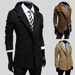Wholesale Brasão homens Jacket Slim Fit homens Trench Casual dos homens revestimento roupa de Inverno Casacos Mens Man Reino Unido Estilo Outwear Overcoat
