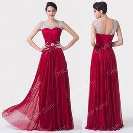 Wholesale Grace Karin Elegant Lady Long Chiffon Dress Evening Bridesmaid Homecoming Formal Prom Dress Size US CL6272