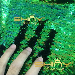 Wholesale 1 Yard Shiny Ways Stretch Can Not See Through mm Big Sequin Fabric For Cloth Wedding Curtain Cushion Cover Party Decoration