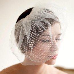 Wholesale Fashion Bridal Wedding Hair Accessories Hairpieces White Birdcage Veil Short Blusher Veils
