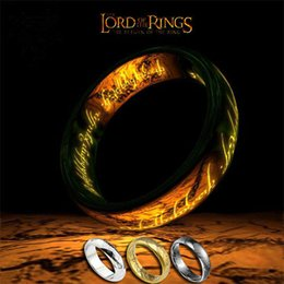 Wholesale fashion jewelry The Lord of the Rings for men Plating K gold black White stainless steel ring for mens vintage titanium ring