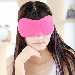 Wholesale High Quality Travel Sleep Rest D Sponge Eye Shade Sleeping Eye Masks Cover Nap Rest Patch Blinder for health care