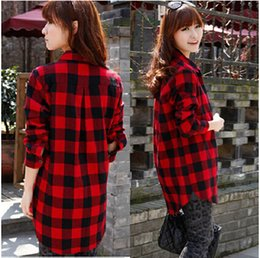 Black And Red Check Shirt Womens | Artee Shirt
