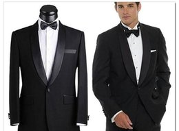 Wholesale Fall Suits Gentleman Groom Tuxedos One Button Notch Lapel Slim Wedding Business Occasion Tuxedo Groom Groomsmen Tuxedos