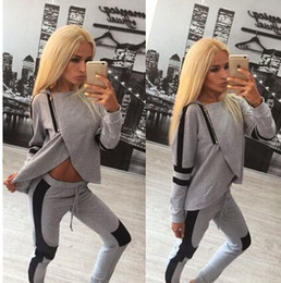 Wholesale Women s Fashion Outfits amp Sets Activewear Irregular Hooded Hoodies Sweatshirts Sweaters Pencil Pants Track Suit Sweat Suit