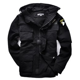 Wholesale Otoño militares de estilo chaquetas M65 para hombres chaqueta de abrigo piloto del ejército EE UU fuerza de bombarderos aire exterior de lana Envío Gratis