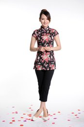 Wholesale Cheongsam tang suit summer top chinese style national trend womes linen clothes chinese style Women women s