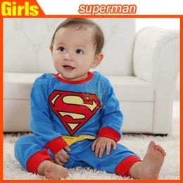 2015 nuevo bebé de una sola pieza de los mamelucos del bebé niños niñas estilo Superman ropa del mameluco Super Man mamelucos Ropa niños de dibujos animados