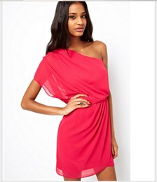 One Shoulder Summer Dresses - Dress Xy