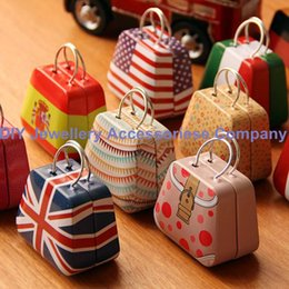 Wholesale 432pcs cm Mini Small Tin Coin Box Purse Case Jewelry Storage Boxes For Earrings Necklace Handbag wedding Candy Box British Flags