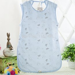 Wholesale M Cotton Baby Pajamas Baby Sleeveless Vest Conditioned Sleeping Bag Bedding Accessories For Children