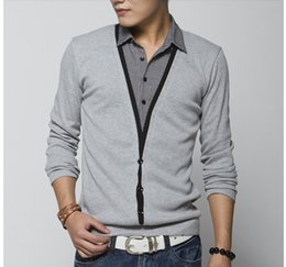 Wholesale 2014 Men Large Plus Size casual shirt long sleeve t shirts men New Arrival XL XL shirt men