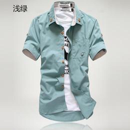 Mens Teal Button Up Shirt