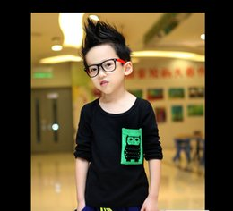 Wholesale Baby Kids Clothing And the boys and girls long sleeved T shirt candy colored t s Korean tide