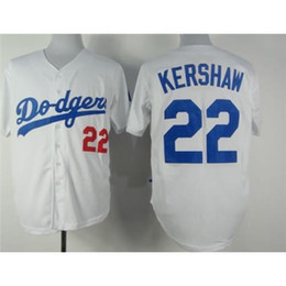 Discount baseball uniforms for sale Dodgers #22 Clayton Kershaw White Baseball Jerseys 2015 New Style Mens Jerseys Highest Quality Discount Outdoor Uniform for Sale