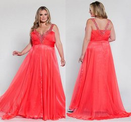 Wholesale 2015 Spaghetti Long Plus Size Special Occasion Dresses Sleeveless Beading Draped Backless D Chiffon Party Prom Evening Dresses Gown