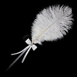 Wholesale New Fashion Wedding Favor Diamante Feather Pen for Bridal Decoration Product Supplies XSTZ YM YMB