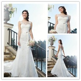 Wholesale White Debutante Girls Wedding Dresses Elegant Bride Bridal Gown Casamento Gown Tulle with Lace Appliques A Line Open Back