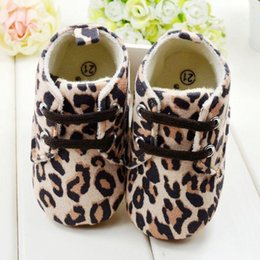 Wholesale BB1103 Cpw baby Girl Infant Toddler Leopard Crib Shoes Walking