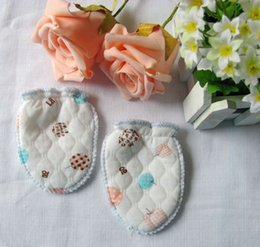 Wholesale Newborn Infant Baby Cotton Gloves Four Seasons Anti Scratching Gloves for Months