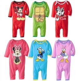 Wholesale 200pcs cotton Long sleeves spring autumn baby wear Teenage Mutant Ninja Turtle baby rompers Mickey Minnie romper baby jumpsuit