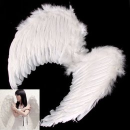 Wholesale Fancy Kids Fairy nativity Angel Wing Costume Fancy Dress Up costume White Feather