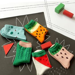 Wholesale 1 Pair Patchwork Watermelon Pattern Women Socks New Fashionable Spring and Autumn Winter Cotton Socks