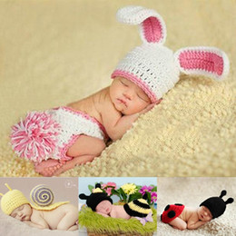 Wholesale New Knitted Hats Baby Beanie Sets Infant Boy Girl Crochet Hats Animal Design Costume Set For Photo Prop Months DEG