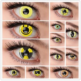 Wholesale style instock MIX yearly used high quality cosplay color soft contact lens from lower MOQ
