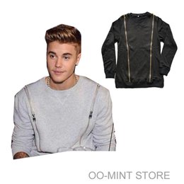 Wholesale High Quality Man Hip Hop Casual Crewneck Hoodies sweatshirts men Justin Bieber Jacket Clothes Clothing Zipper Swag Streetwear