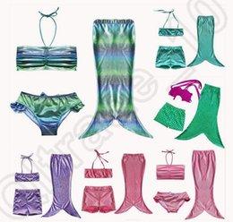20SET HHA739 de los bebés del bikini chica de moda del traje de baño de la sirena de cola para la natación 3pcs / set los niños del traje de baño trajes de baño