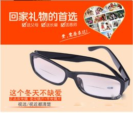 Wholesale 100PCS High Quality Resin glasses HD Nano Diamond Presbyopic glasses for Elders With different Degrees Double optical presbyopic glasses