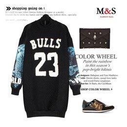 Wholesale Melinda Style new women sweatshirt owl patchwork sleeves letter pattern pullover beading casual vestidos