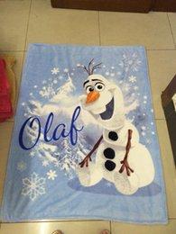 Wholesale CARTOON BLANKETS Frozen Blanket Soft Plush Bed Bedding Fleece Throw Blanket frozen Olaf Anna Blankets for Baby Kids Frozen