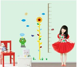 little frog height measure wall sticker for kids room zy7149 wall art mural decals wallpaper children home wall decor frog home decor for sale