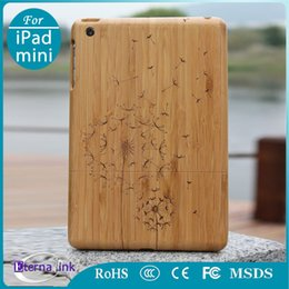 Wholesale High Quality Deep Bamboo case For iPad mini Dandelion Pattern cover