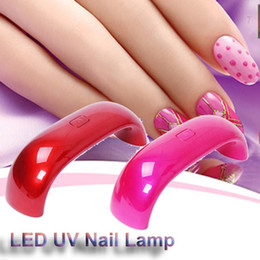 Wholesale Mini LED UV Nail Lamp Nail Dryers USB Electric Curing Lamp Machine W Seconds Fast Dry Colorful Free DHL W Cute Nail Art Gel Nail Lamp