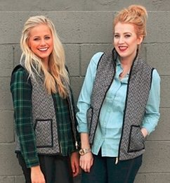 Wholesale Brand New Women s Herringbone Vest Designer Inspired black Herringbone vest Quilted Cotton Puffer Vest Size S XXL