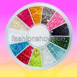 Wholesale Colors mm mm Acrylic Half Round Pearls Flat Back Jewelry Nail Art Beads Decoration Craft DIY Tools