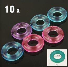 10Pcs Stay Hard Doughnuts Silcone Cock Anéis Delaying Ejaculação Anéis Anel Penis Flexível Glue Cockring Sex Toys para Homens