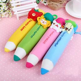 Wholesale Kawaii Pen Shape Pencil Bags School Kid s Plush Pen Pouch Case Pack Pendant Storage Pouch Bag Coin Purse Wallet BAG with KEY HOOK