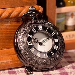 discount mens pocket watches 2017 mens pocket watches for antique becatiful mens women analog display quartz movement pocket watch shipping black case full white dial hot watch