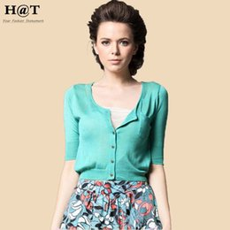 Wholesale C32 Celebrity Style Women Crop Tops Cardigan with Pocket Autumn Spring Short Sweater Coat Jumper Knitwear New